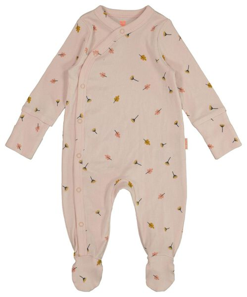 newborn jumpsuit met bamboe roze 44 - 33428331 - HEMA