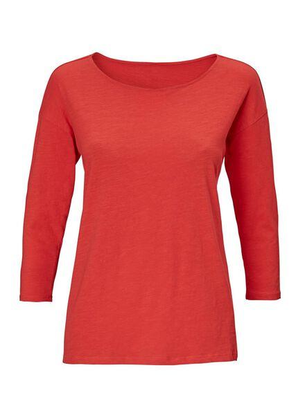 dames t-shirt rood rood - 1000012468 - HEMA