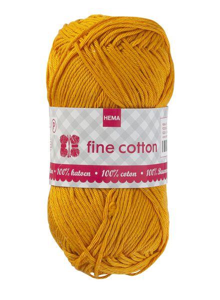 breigaren fine cotton fine cotton geel - 1400005 - HEMA