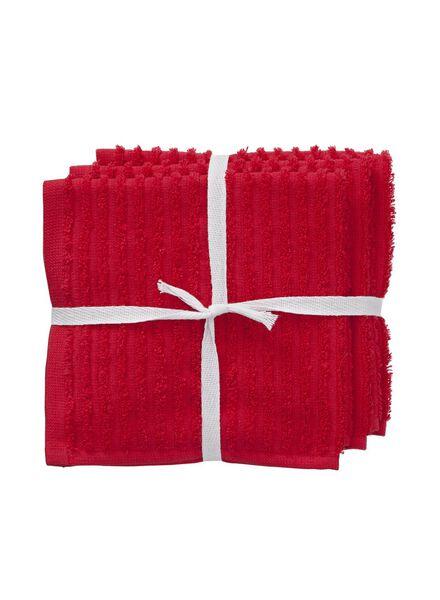 vaatdoekjes - katoen - rood - 3 stuks - 5490157 - HEMA