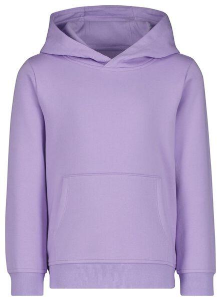 kinder capuchonsweater lila lila - 1000024992 - HEMA