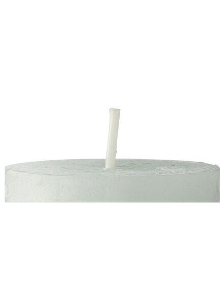 rustieke kaarsen lichtgroen lichtgroen - 1000015365 - HEMA
