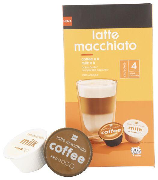 koffiecups latte macchiato - 8 stuks - 17100131 - HEMA