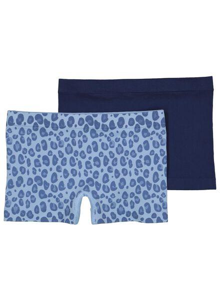 2-pak kinderboxers blauw blauw - 1000014990 - HEMA
