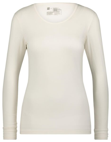 dames thermo t-shirt wit wit - 1000022107 - HEMA