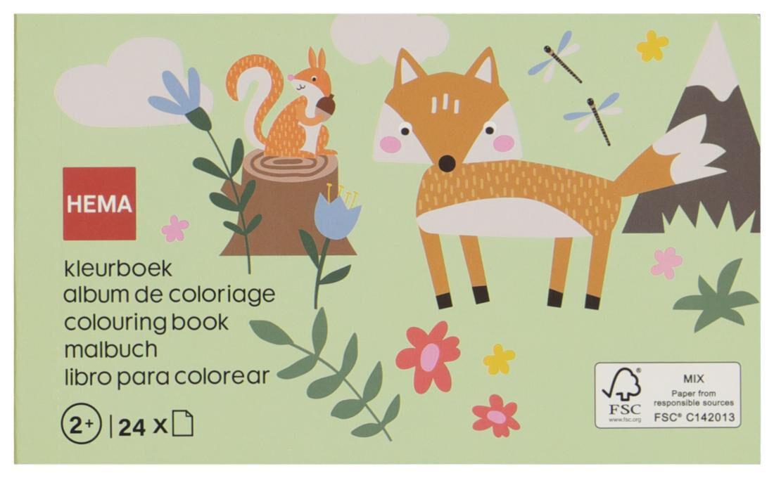 HEMA Kleurboek Bos 10x16.5