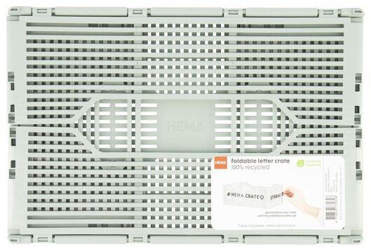 klapkratje letterbord recycled 20x30x11.5 - leemgroen mintgroen 20 x 30 x 11,5 - 39821033 - HEMA
