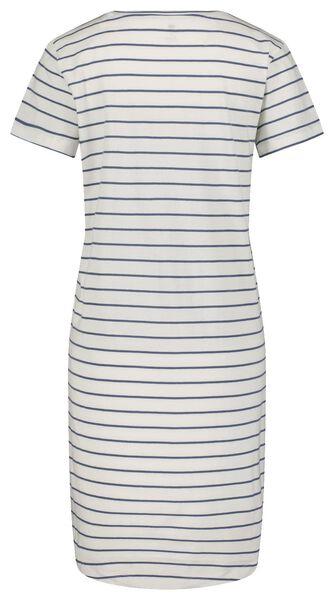 damesnachthemd strepen wit M - 23400452 - HEMA