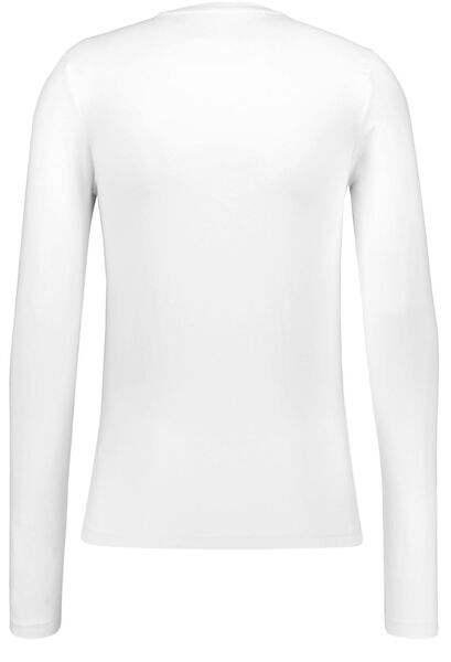 heren t-shirt slim fit wit wit - 1000009581 - HEMA