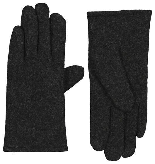dameshandschoenen wol touchscreen zwart zwart - 1000020748 - HEMA