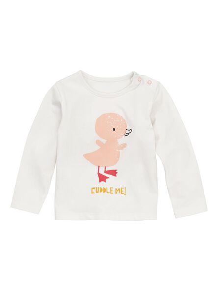 newborn baby t-shirt gebroken wit gebroken wit - 1000011126 - HEMA