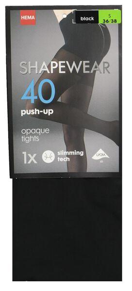panty push-up 40denier zwart zwart - 1000001213 - HEMA
