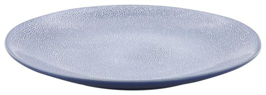 dinerbord 26cm Porto reactief glazuur wit/blauw - 9602250 - HEMA