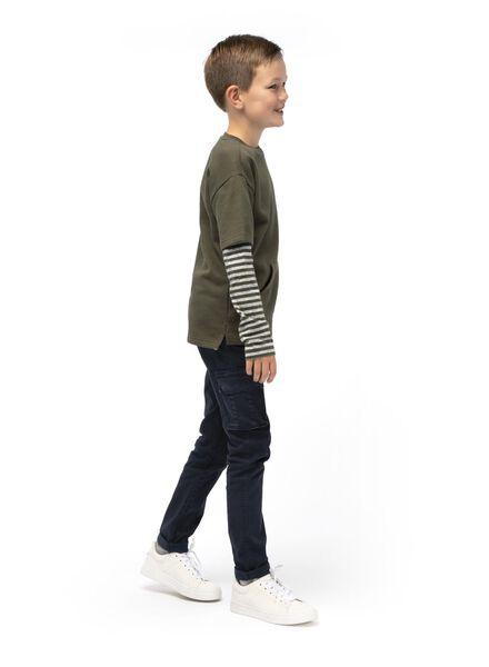 kinder t-shirt donkergroen donkergroen - 1000014993 - HEMA