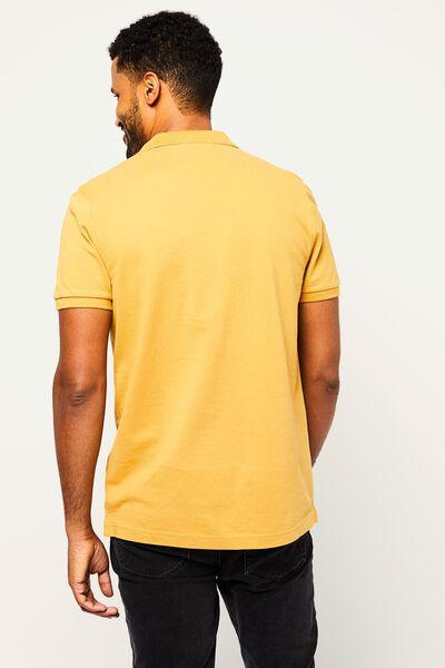herenpolo piqué geel geel - 1000022446 - HEMA