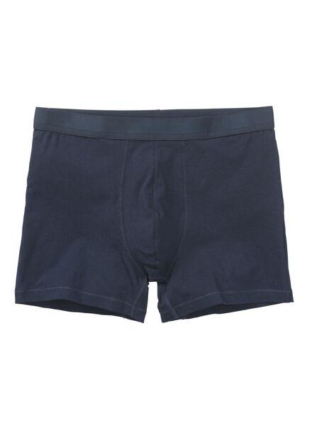 2-pak herenboxers lang middenblauw middenblauw - 1000010826 - HEMA