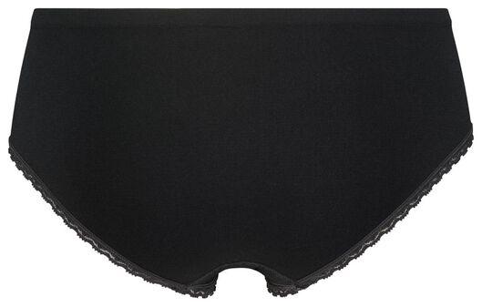 dameshipster naadloos kant zwart XL - 19690005 - HEMA