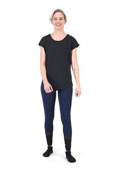 dames sportshirt loose fit zwart zwart - 1000018821 - HEMA