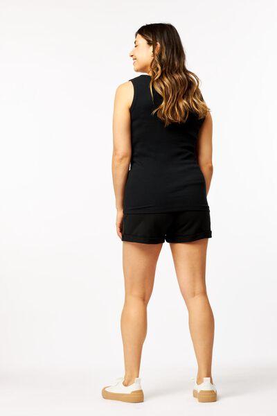dames sweatshort zwart zwart - 1000023987 - HEMA