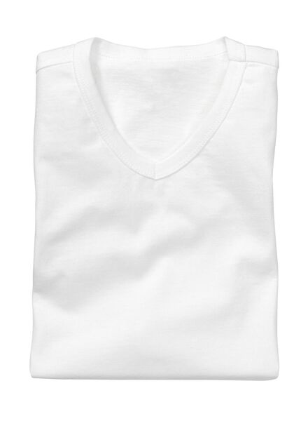 2-pak heren t-shirts regular-fit wit wit - 1000005969 - HEMA
