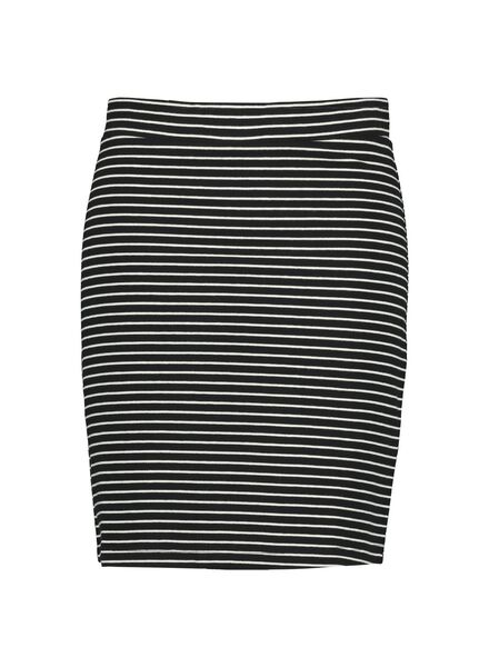 damesrok zwart/wit zwart/wit - 1000009718 - HEMA