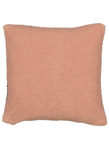 kussenhoes - 40 x 40 - roze/rood structuur - 7392029 - HEMA