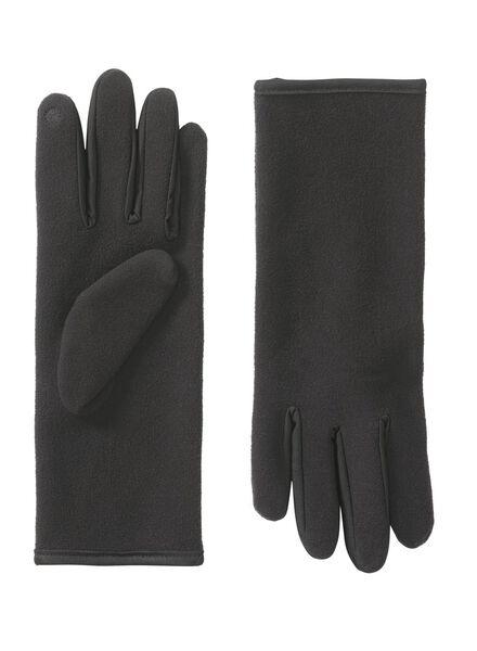 dameshandschoenen zwart zwart - 1000009704 - HEMA