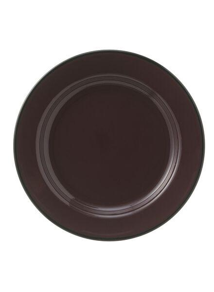 emaille bord - 22 cm - donkerrood - 60080131 - HEMA