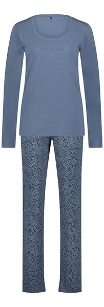 damespyjama katoen animal blauw L - 23421563 - HEMA