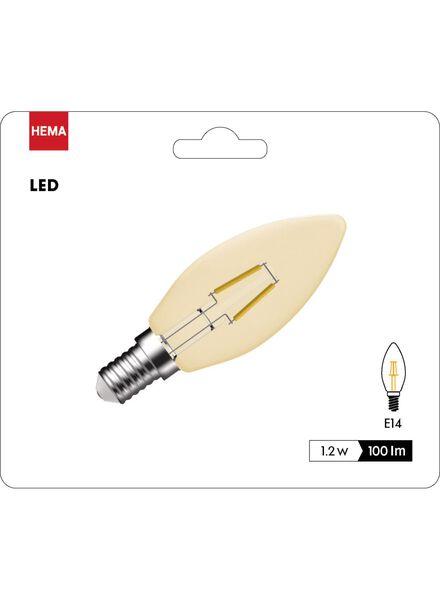 LED kaarslamp goud helder 1,2 watt - kleine fitting - 100 lumen - 20090050 - HEMA