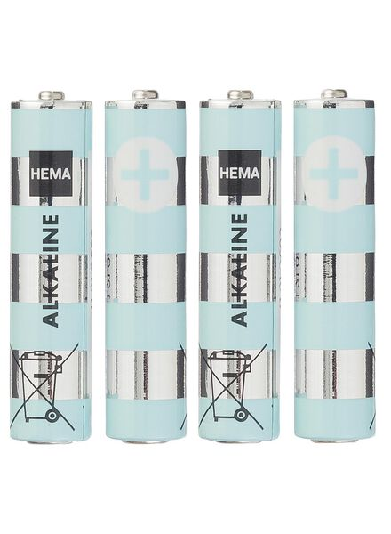 4-pak AAA batterijen - 41210503 - HEMA