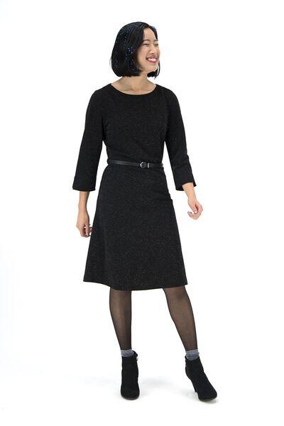 damesjurk zwart zwart - 1000017177 - HEMA