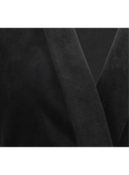 dames badjas zwart zwart - 1000016836 - HEMA