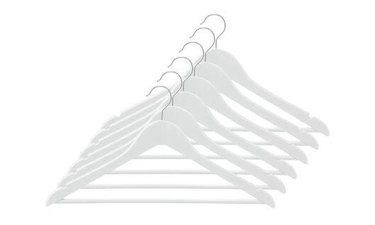 kledinghangers hout wit - 6 stuks - 39811004 - HEMA