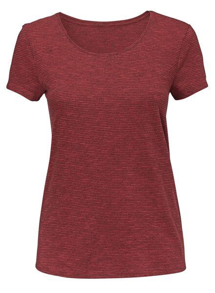 dames t-shirt rood rood - 1000008668 - HEMA