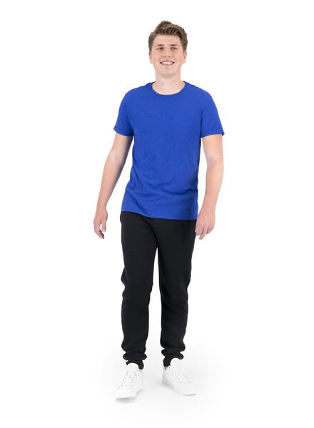 heren t-shirt slub blauw blauw - 1000014694 - HEMA