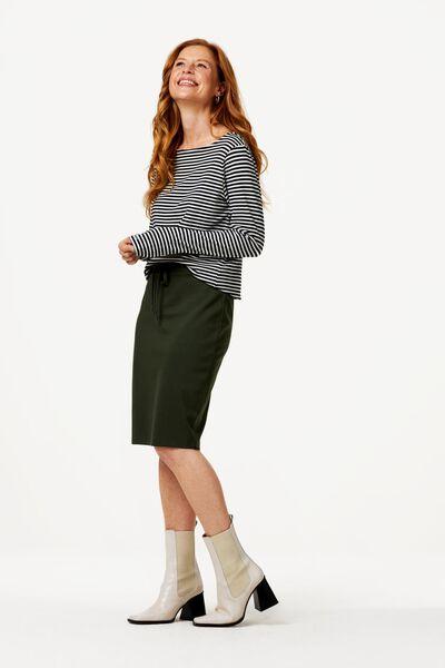 dames t-shirt boothals zwart/wit XL - 36228394 - HEMA