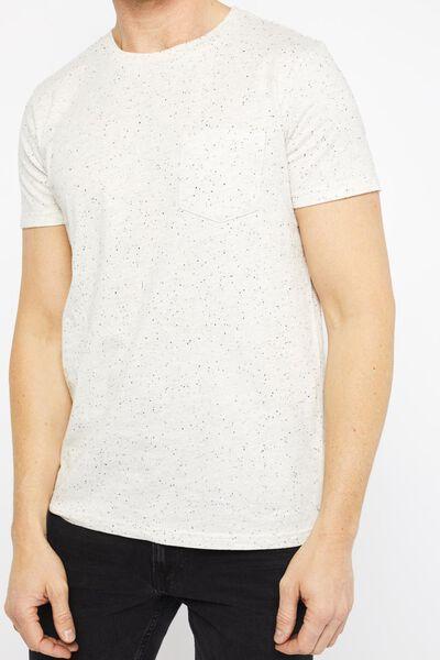 heren t-shirt grijsmelange grijsmelange - 1000021758 - HEMA