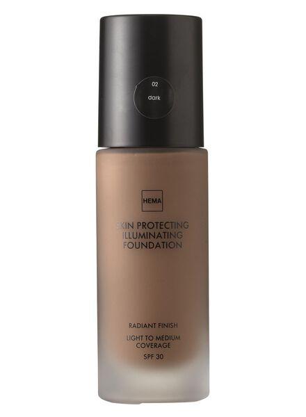 skin protecting illuminating foundation Dark 02 - 11292202 - HEMA