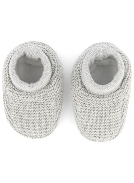 newborn sloffen grijsmelange grijsmelange - 1000015563 - HEMA
