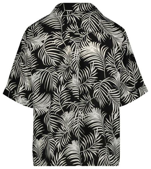 damesblouse zwart/wit zwart/wit - 1000019635 - HEMA