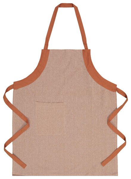 keukenschort chambray katoen - terra - 5410087 - HEMA