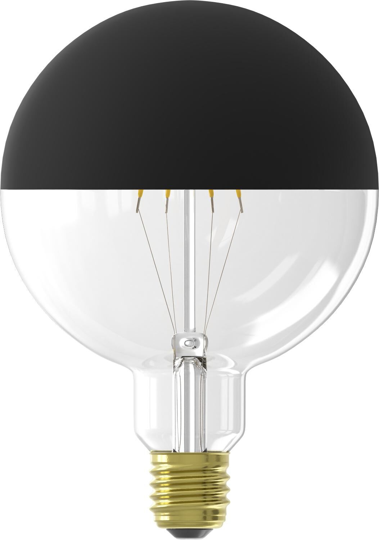 LED Lamp 4W - 280 Lm - Globe - Kopspiegel Zwart (zwart)