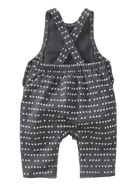 newborn jumpsuit grijsmelange grijsmelange - 1000008450 - HEMA