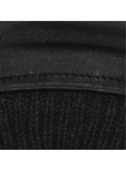 herenhandschoenen leer zwart zwart - 1000015330 - HEMA