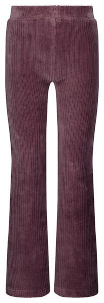 kinderlegging flared corduroy paars 110/116 - 30827731 - HEMA