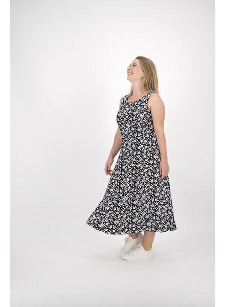 damesjurk zwart/wit zwart/wit - 1000013829 - HEMA