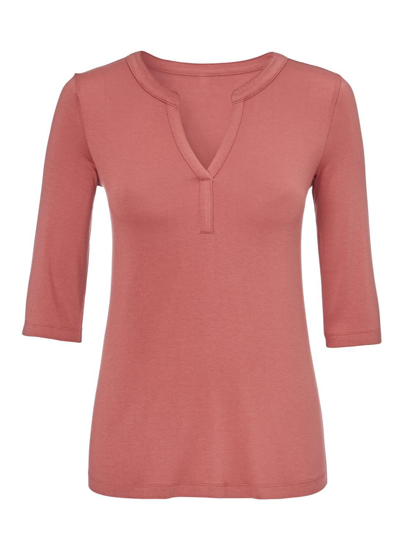 HEMA Dames T-shirt Donkerroze (donkerroze)
