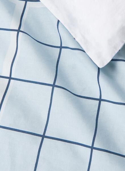 dekbedovertrek - zacht katoen - 200 x 200 cm - blauw ruit - 5750023 - HEMA