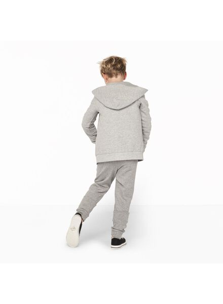 kinder sweatvest grijsmelange grijsmelange - 1000011257 - HEMA